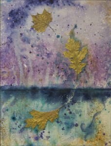 Leaf Study No. 8: Acrylic/Mixed Media on Hardboard 12 x 16