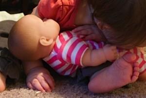 Hugging Baby